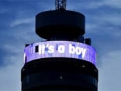 LED display announces birth of royal baby