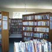 Library fitted with digital signs