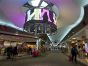 360 degree LED display installed at US airport