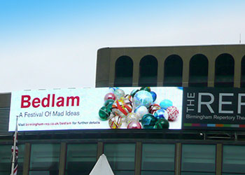 Birmingham REP use LED-signage to promote productions