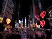 Artist harnesses Times Square LED displays
