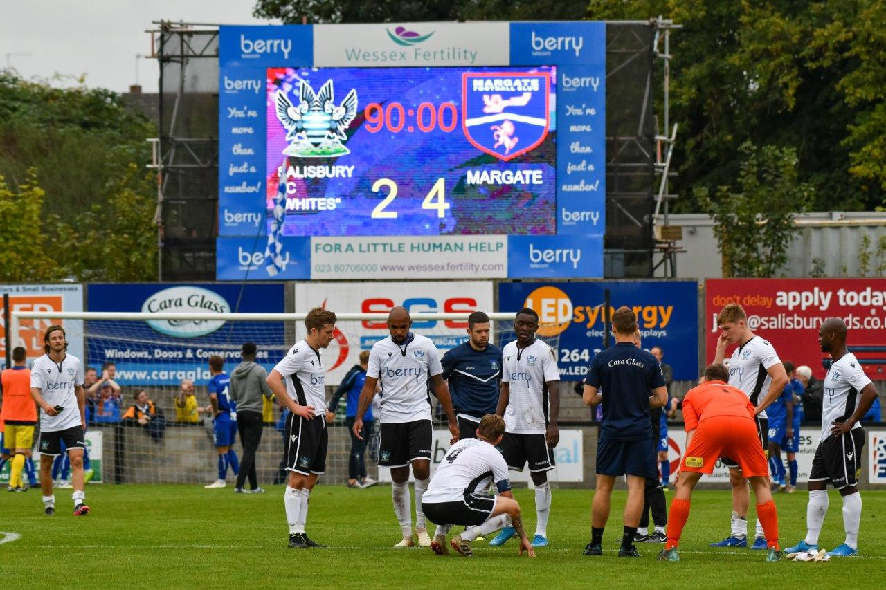 LED Scoreboards - Salisbury FC - Keeping up with Technology