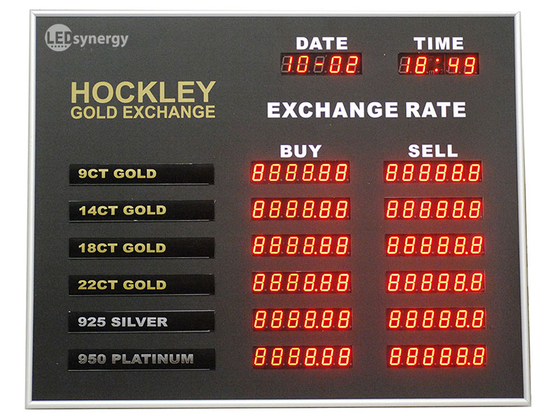 Exchange Rate Board Led Rate Display Signs Amp Exchange Rate Displays Led Synergy