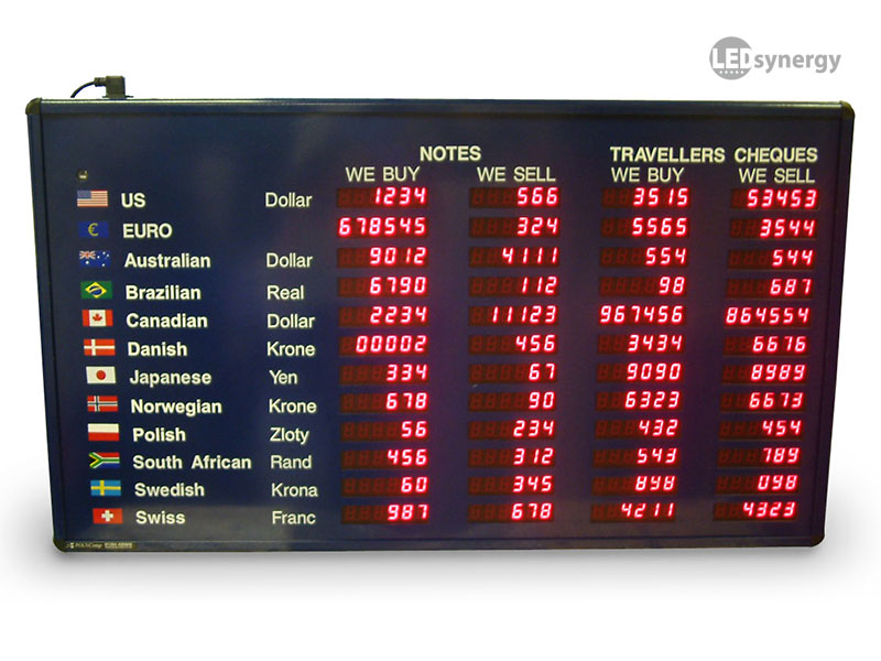 Exchange Rate Board Led Rate Display Signs Amp Exchange