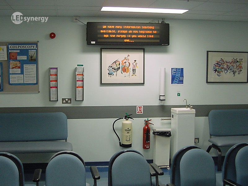 Clinic Reception Displays Amp Waiting Room Signs Led Synergy