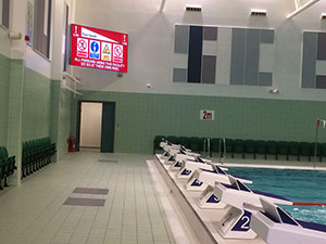 New Led Scoreboard For Swimming Pool In Worcester